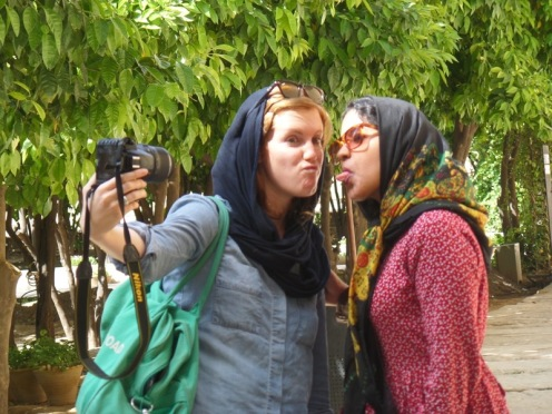 In a garden in Isfahan